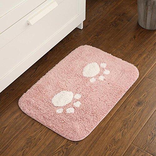 ELEOPTION Bath Mat Sets for Bathroom, 2 Piece Non Slip Bathroom Rug Set and Contour Mat Non-Slip Pedestal Super Absorbent Machine Wash (Pink) by ele ELEOPTION (Image #5)