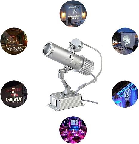 10W LED Imagen personalizada Logotipo de GOBO Luz del proyector ...