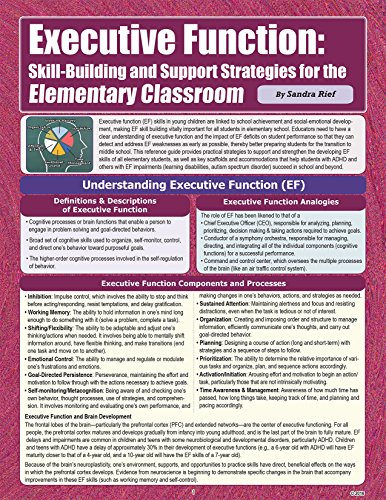 Executive Function: Skill-building Support Strategies for the Elementary Classroom