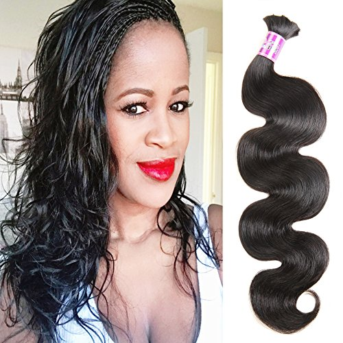 ZSF Hair Brazilian Body Wave Bulk Hair For Braiding No Attachment 3Pcs Human Bulk Hair Mix Length 16