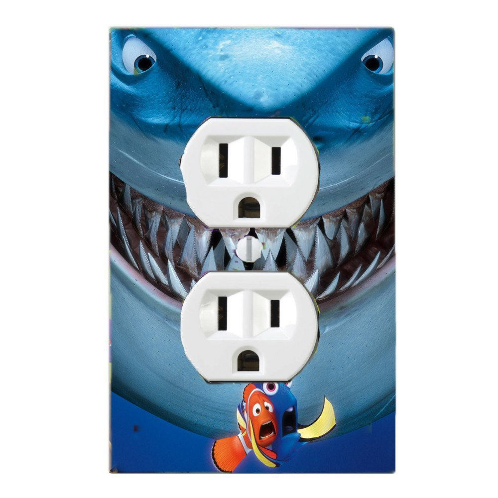 Got You Covered Fish Are Friends, Not Food Bruce Finding Nemo Light Switch Cover or Outlet brucesingle