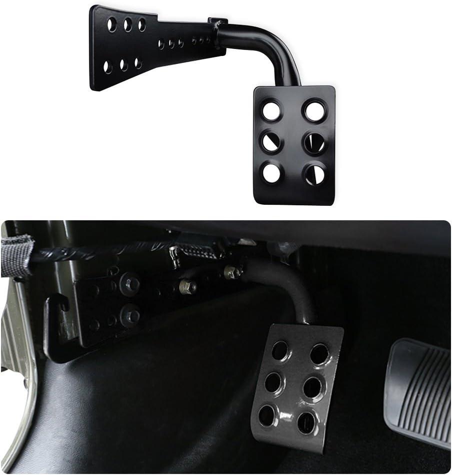 Black Bentolin Metal Dead Pedal Left Side Foot Rest Kick Panel 2007-2018 Jeep Wrangler JK /& Unlimited