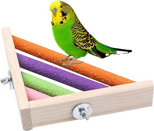 Balacoo - Estantería esquinera para jaulas de pájaros, jaulas de pájaros, Barras de Asiento, estantería esquinera de Madera, Plataforma de Escalera para Accesorios de Jaula de hámster: Amazon.es: Productos para mascotas