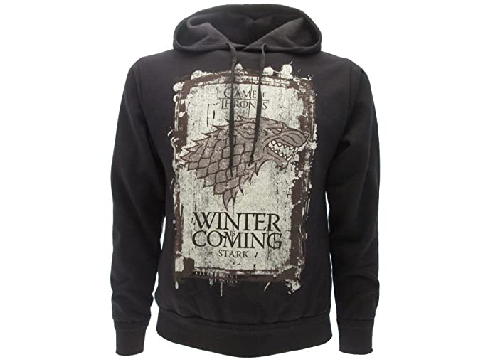 Games Of Thrones Hbo Hoodie Hooded Sweatshirt Winter Is Coming