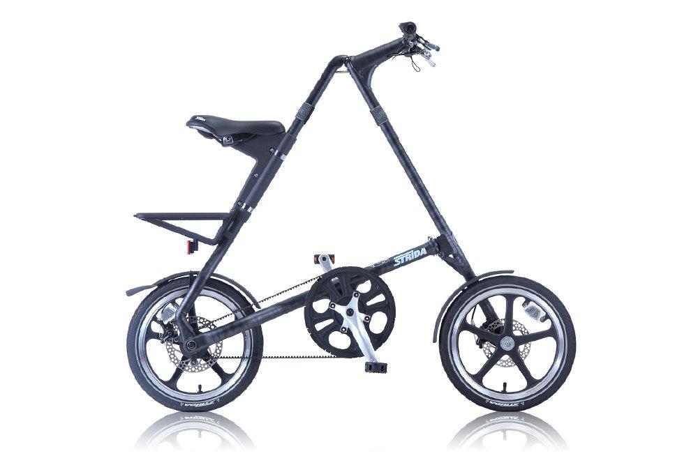 STRIDA(ストライダ) 16インチ折りたたみ自転車 シングルスピード アルミフレーム 前後ディスクブレーキ STRIDA LT-CAMOUFLAGE BLACK TABBY (2015) B00W9O2DGY