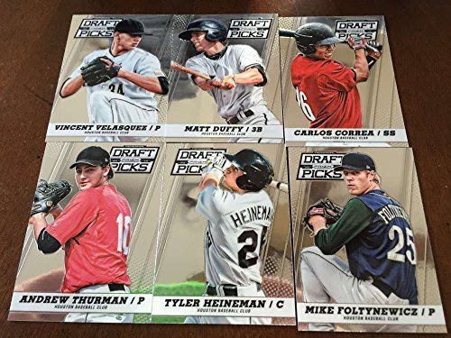 2013 Panini Prizm Perennial Draft Picks Houston Astros Team Set No SP 6 Cards Carlos Correa