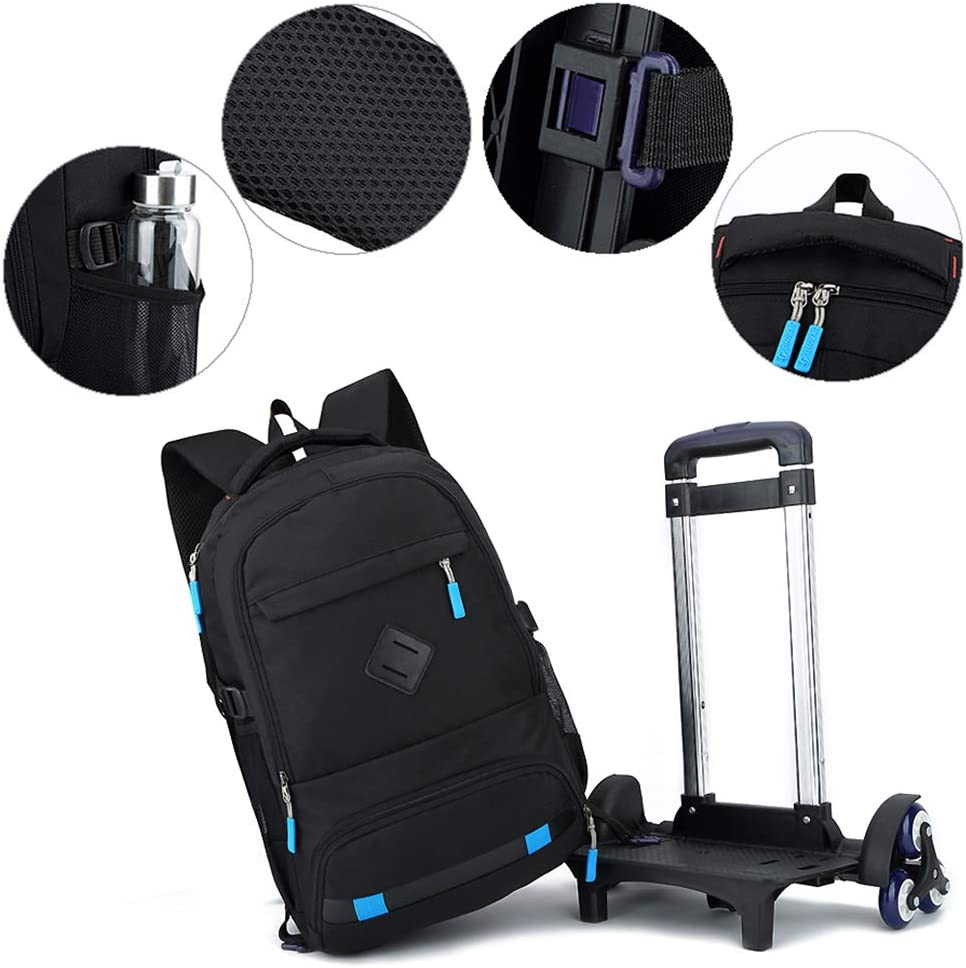 uirend Luggage Backpacks Kids Trolley Bag Removable 6 Wheels Climbing Stairs