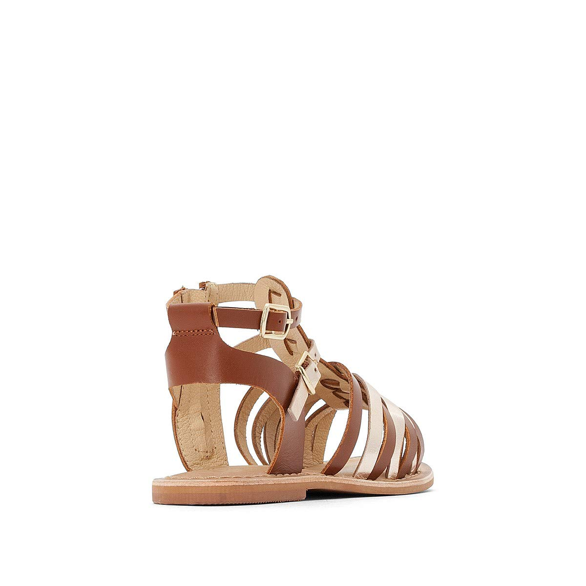 Sizes 8.5-6 La Redoute Collections Big Girls Leather Gladiator Sandals