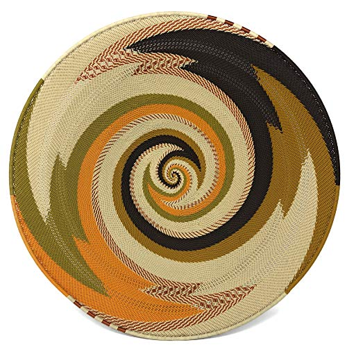 (Bridge for Africa Fair Trade Zulu Telephone Wire 16-inch Platter Basket, African Earth)