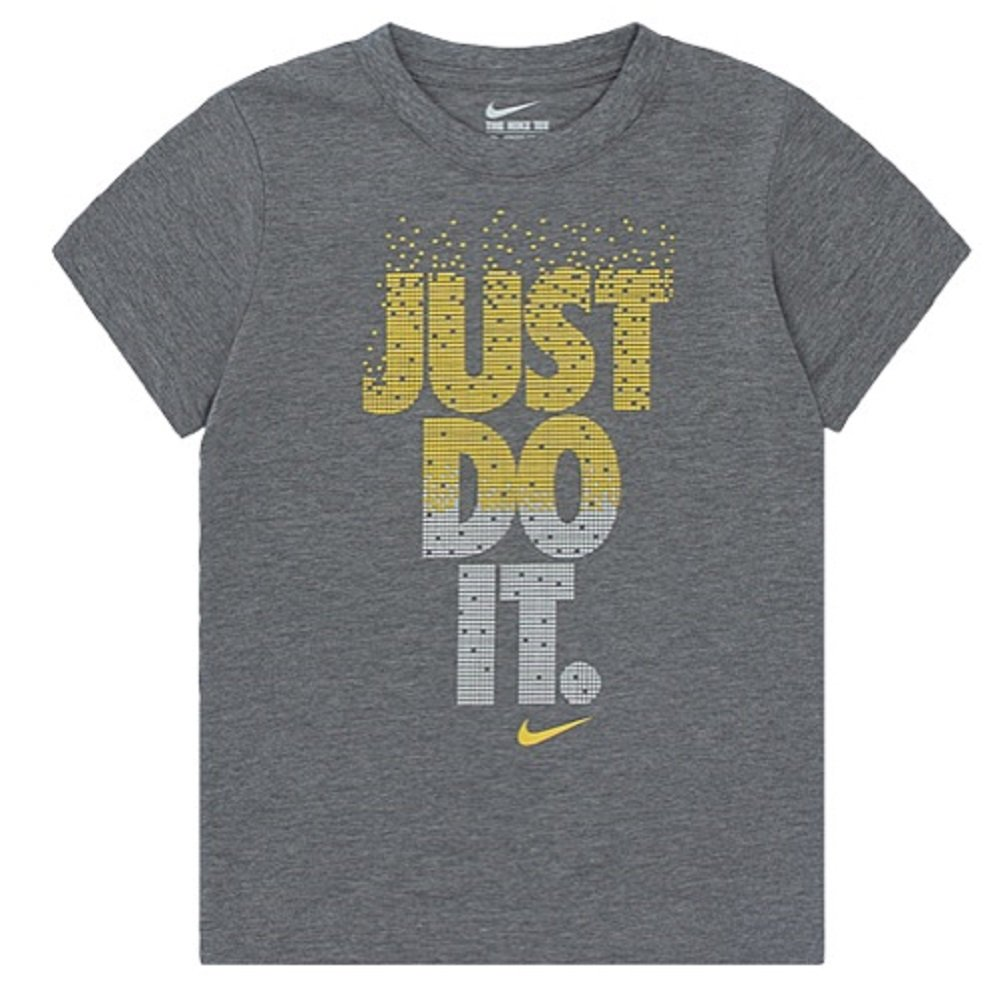 NIKE Little Boys JUST DO IT Raised Letters T-Shirt