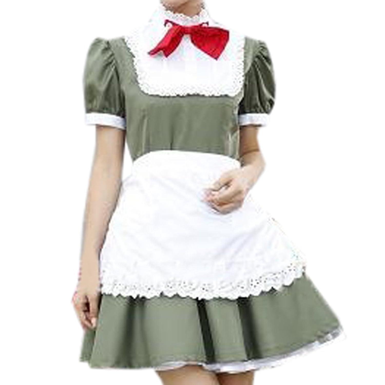 Partiss Damen Frauen Oktoberfest Beer Girl Dirndl Trachtenkleid Kleid mit kariertem Rock Schuetzenfest Schuerze