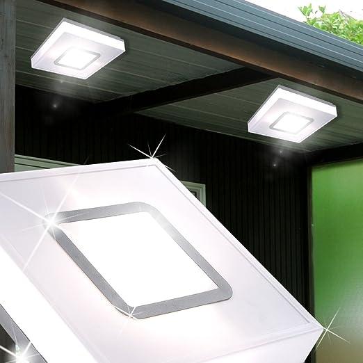 Lampade Da Esterno Plastica.Mia Light Lampada Da Soffitto Esterno O280 Mm Bianco Plastica