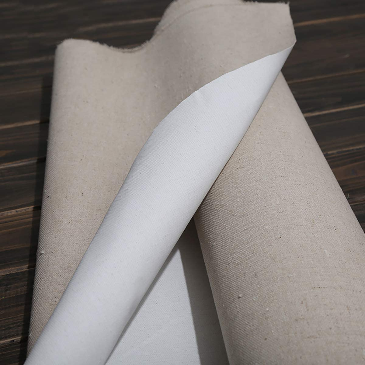 Linen Blend Primed Blank Canvas For Painting High Quality Layer Oil Painting Canvas Queenbox 39.3 inch Linen Canvas Roll Width 15 inch
