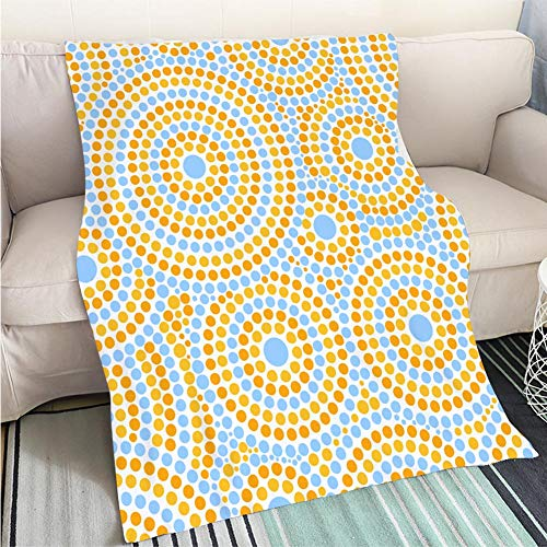 Dotted Hoop - Super Soft Throw Thicken Blanket Summer dot pattern vector seamless Abstract geometric dotted circles print Design for fabric wallpaper wrapping paper or Fun Design All-Season Blanket Bed or Couch