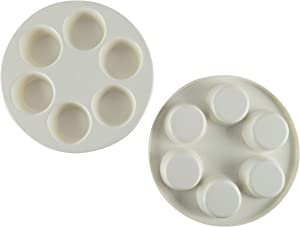 HOME-X Microwave Muffin/Cupcake Baking Pan, Round Egg Poacher and Cooker, Set of 2