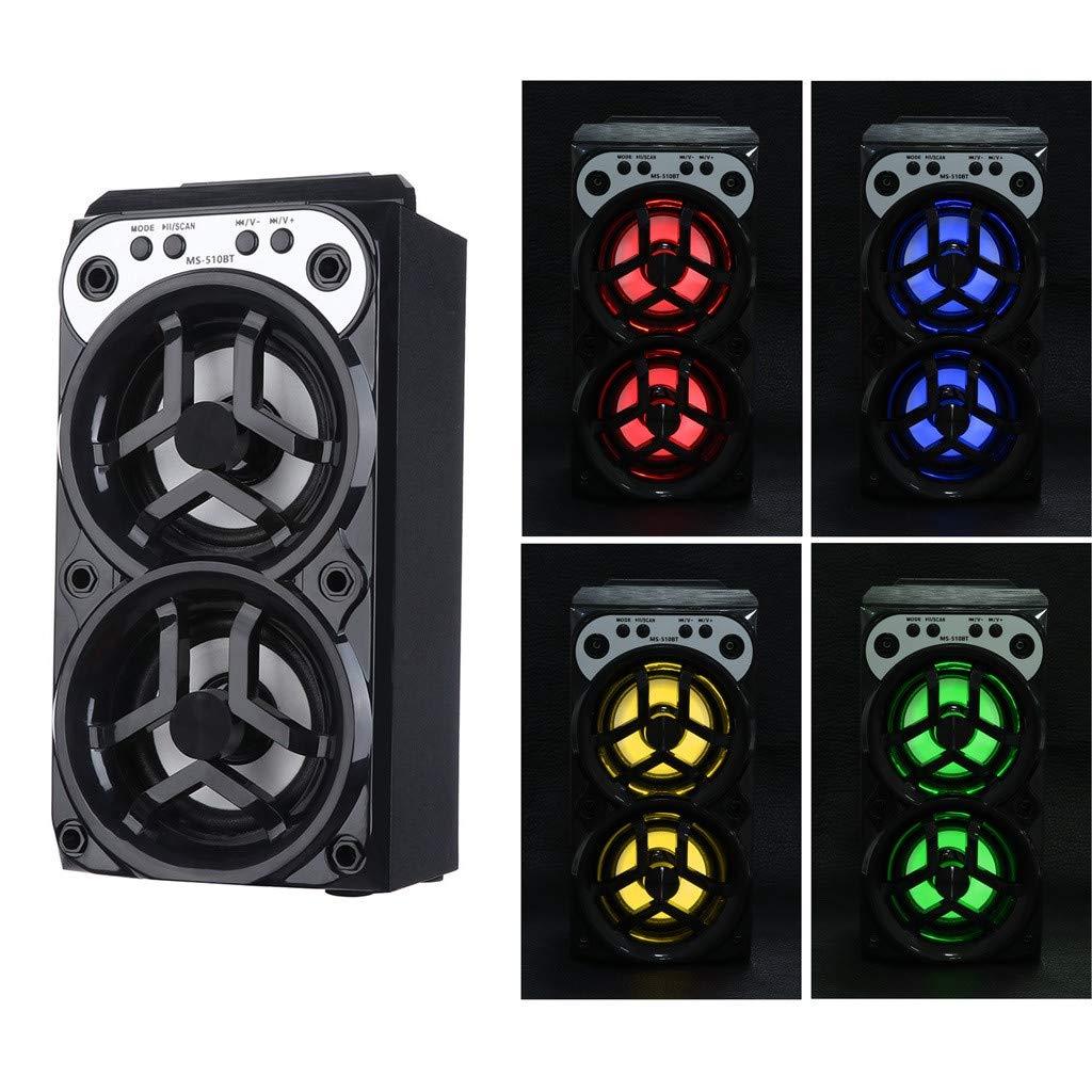 Outdoor Bluetooth Wireless Portable Speaker Super Bass with USB/TF/AUX/FM Radio G