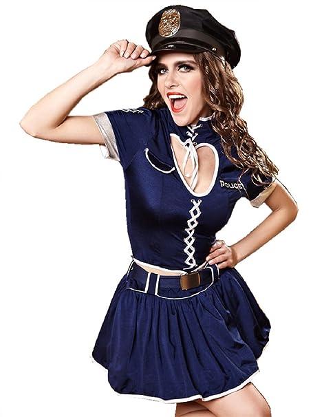 Amazon.com: C.X Trendy Mujer Sexy disfraz de policía Sweet ...