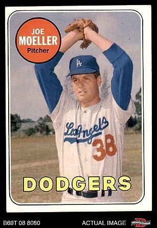 EX//MT 1969 Topps #444 Joe Moeller Name in White Dodgers PSA 6