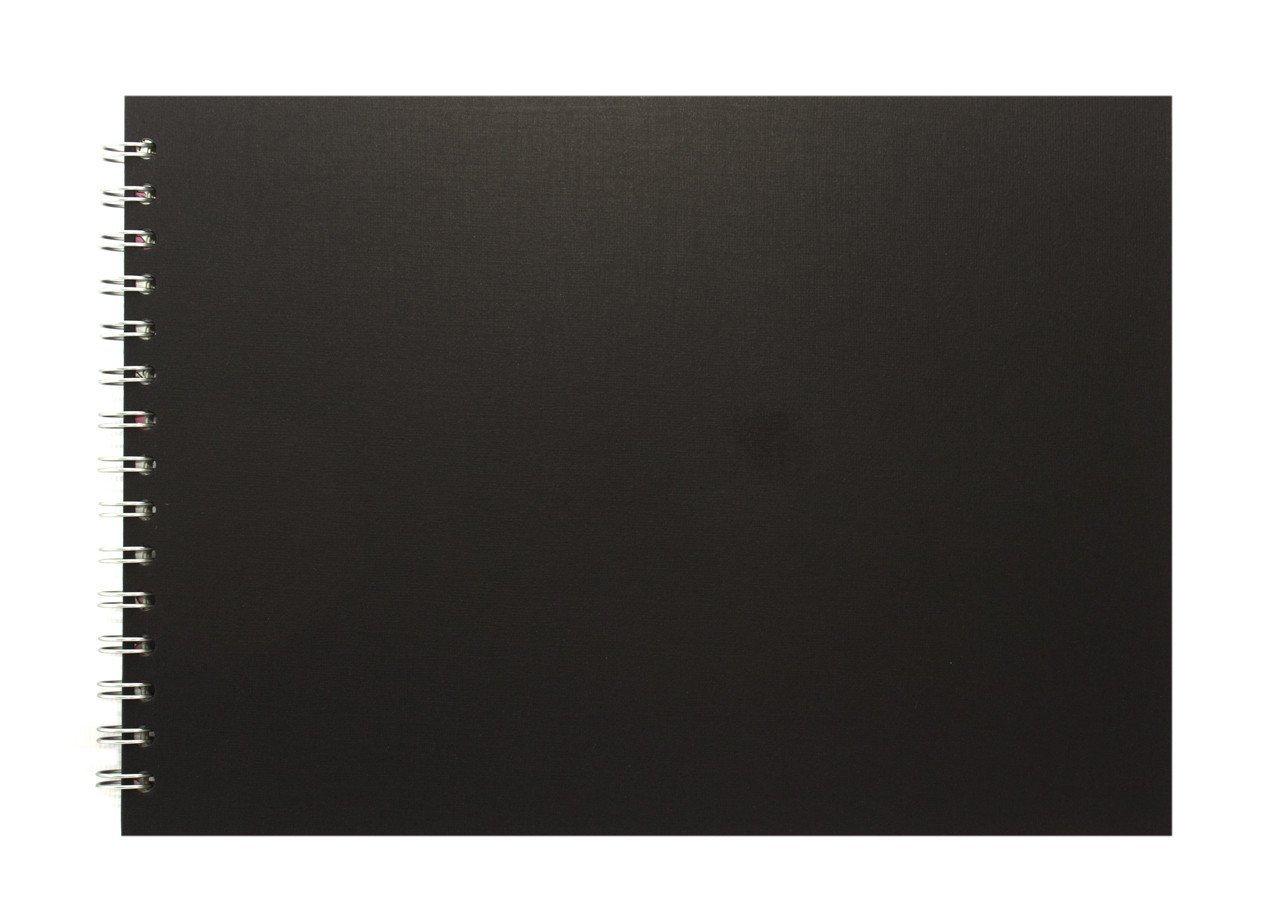 Pink Pig Eco - Cuaderno de bocetos (A4 horizontal, papel blanco, 150 g/m2, 35 páginas), color blanco