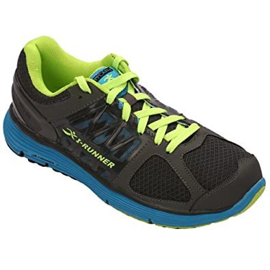Ross Men's Therapeutic Athletic Extra Depth Shoe: Grey/Blue/Green -9.0 Wide (2E) Lace