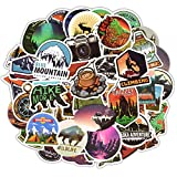 Automotive : Homyu Stickers Pack 50-Pcs Decals of Outdoors for Laptops Cars Motorcycle Portable Luggages Ipad Waterproof Sunlight-Proof