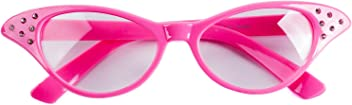 3048282e6c Funny Party Hats Pink Cat Eye Glasses - Pink Ladies - Grease Costume - 50s  Costumes