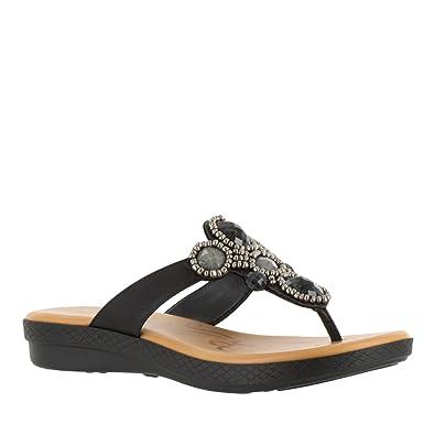 Easy Street Womens Begem Flat Sandal Teal Size 55