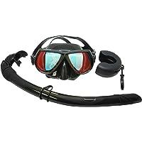 Palantic negro espejo Buceo libre de lentes con bajo volumen de buceo y Snorkel Combo