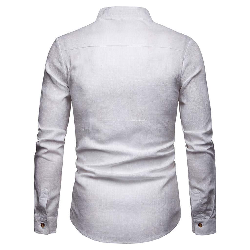 Koolsants Men Shirts Botton Down Fashion Solid Male Casual Patchwork Long Sleeve Top
