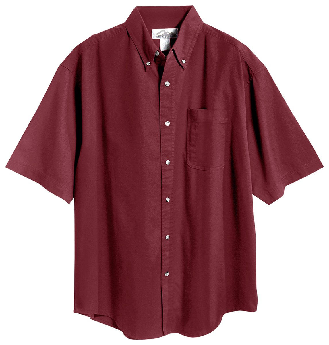 Tri-Mountain 768 Recruit Teflon Stain-Resistant Woven Shirt, Maroon, 6XLT