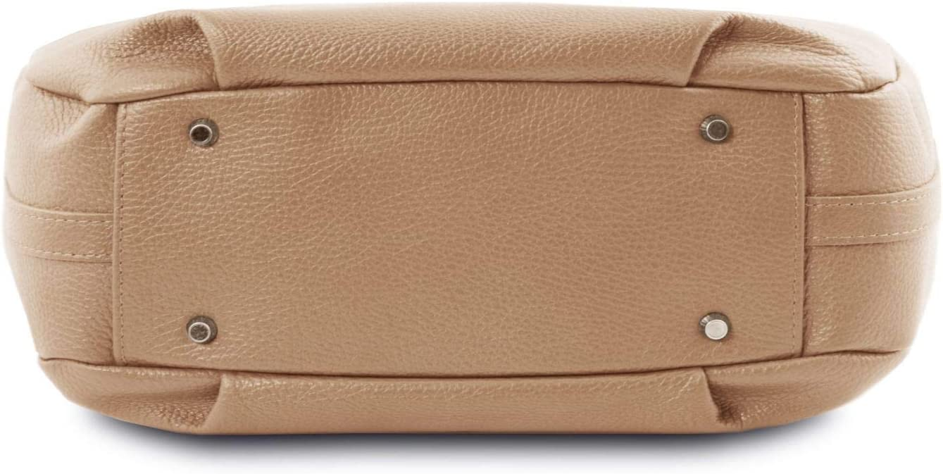 Tuscany Leather TLBag Bolso Hobo en Piel Suave - TL141855 (Champagne) Champagne