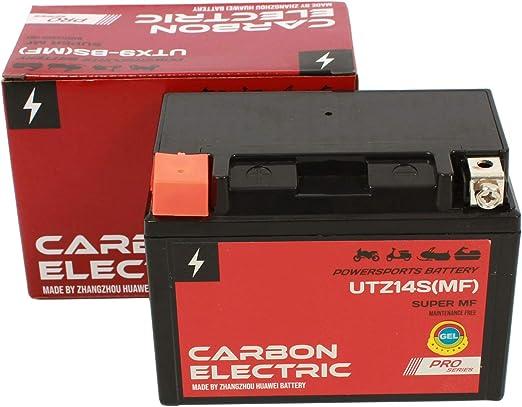 Carbon Electric Ytz14s Mf Gel Batterie 12 V 11 2 Ah Utz14s Mf Wartungsfrei Versiegelt Motorrad Roller Motorradbatterie Rollerbatterie Auto