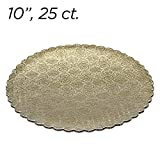 10'' Gold Scalloped Edge Cake Boards, 25 ct