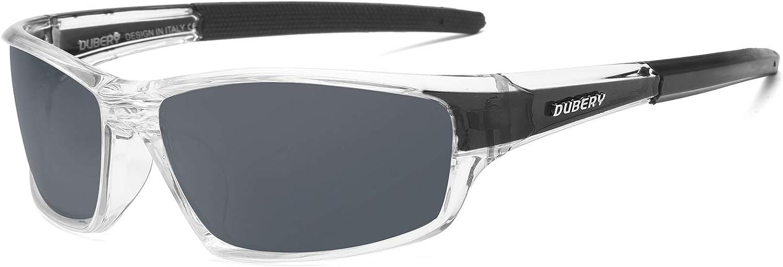 DUBERY Sport Polarized Sunglasses Outdoor Men Riding Fishing Square Eyewear USA