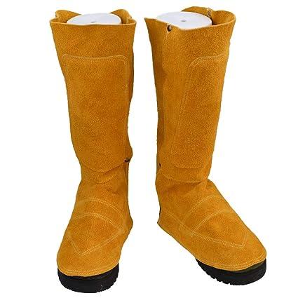 Protección De Trabajo De Cuero Cubierta Del Zapato De La Soldadura Y Soldadura De Gran Tamaño