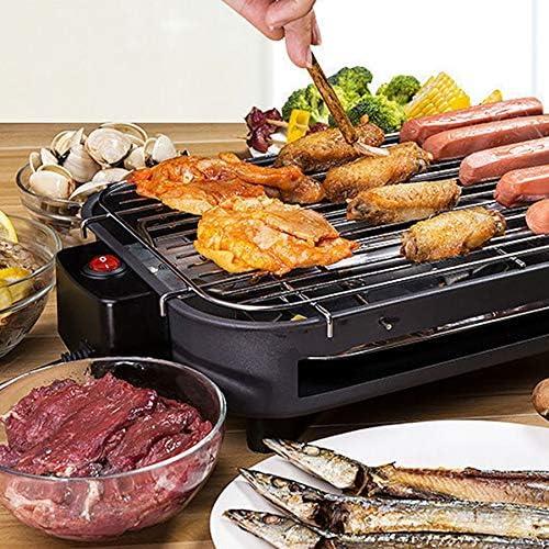 WOVELOT Multifonctionnel éLectrique Barbecue Grill MéNage sans FuméE Teppanyaki Barbecue Grill éLectrique Grill 220 V IntéRieur Barbecue Machine avec Prise UE