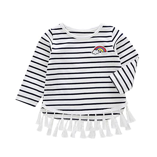 d57150448dc68 Amazon.com: Baby Toddler Girls Fall Winter Clothes Loose Blouse for ...