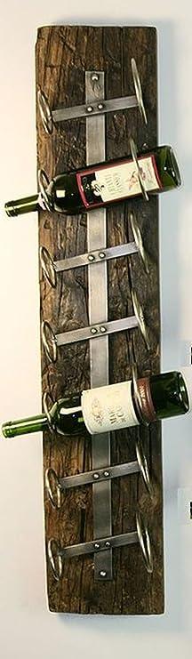 Cranville Wine Racks Hierro montado en la pared de siete cajas de botellas de vino: Amazon.es: Hogar