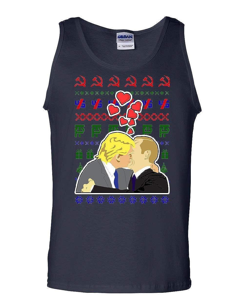 Trump Putin Lovers Ugly Sweater Tank Top USSR Russia Impeach Xmas Sleeveless
