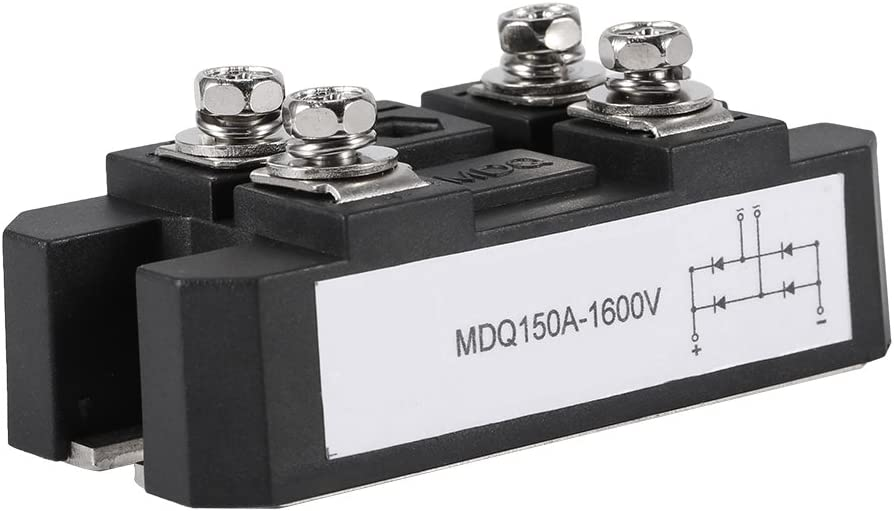 Hilitand - Módulo rectificador de Puente de diodo monofásico, 150 A, Alta Potencia, 1600 V, 4 bornes