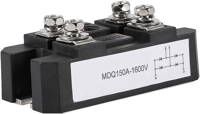 Schwarze Einphasige Dioden Brückengleichrichter Modul 150a Ampere Hohe Leistung 1600v 4 Anschlüsse Beleuchtung