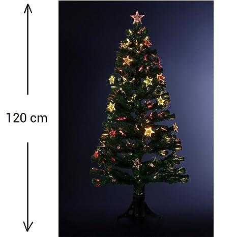 FEERIC LIGHTS & CHRISTMAS DECORACIÓN NAVIDAD - Arbol de Navidad artificial de fibra óptica + 18