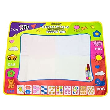 Buy Aqua Doodle Mat Coolplay 4 Color Children Water Drawing Mat Board Magic Pen Doodle Kids Educational Toy Gift 31 5 X 23 62 Online At Low Prices In India Amazon In