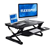 FlexiSpot M2B Standing Desk Converter - 35 Inch wide platform Height Adjustable Stand up Desk Riser with Removable…