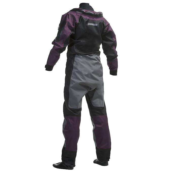 Amazon.com: Gul Code Zero u-zip Dry traje de dama negro/plum ...