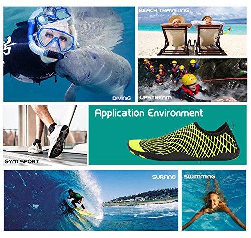 Aerobics Quick Shoes Barefoot Yoga Water Shoes Swim Aqua Sports Womens Mens Socks Beach Surf Shoes Water for Yellow Dry Pool RqwwSX6x
