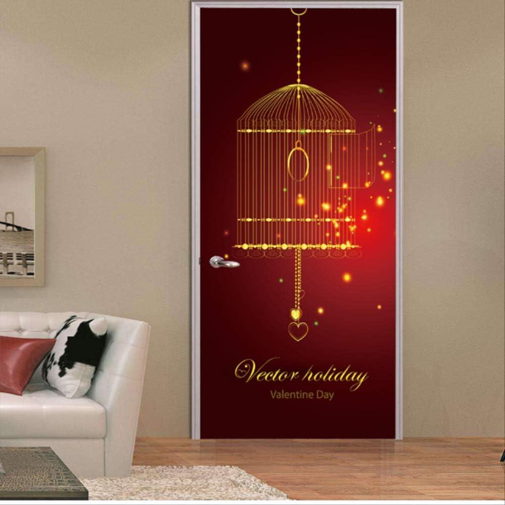 Abeursh Festival Musulmán Puerta De Entrada DIY Etiqueta De La Pared Decoración para El Hogar Calcomanías Etiqueta De La Puerta 77X200Cm