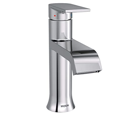 Outstanding Moen 6702 Genta One Handle Single Hole Modern Bathroom Sink Faucet With Optional Deckplate Chrome Home Interior And Landscaping Mentranervesignezvosmurscom