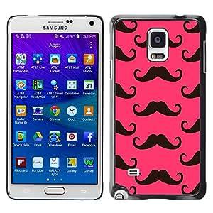 Paccase / SLIM PC / Aliminium Casa Carcasa Funda Case Cover para - Moustache Pink Alternative - Samsung Galaxy Note 4 SM-N910F SM-N910K SM-N910C SM-N910W8 SM-N910U SM-N910