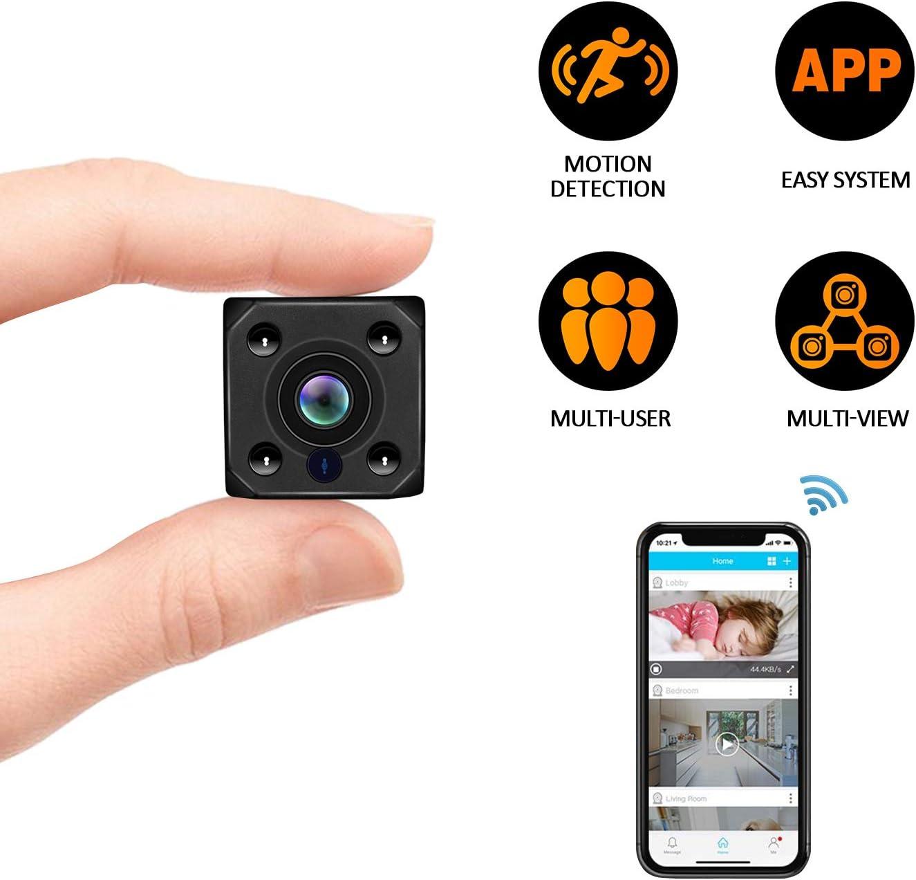 Mini Spy Hidden Camera, Wireless Hidden Camera Portable Dice HD1080P Video USB DVR Recording